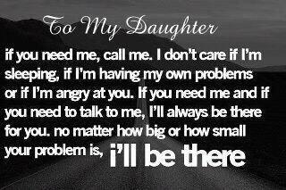 I'll be there!  ♥: Sayings, Life, Girl, Quotes, Daughters, I Will, I Ll, Friend, To My Daughter