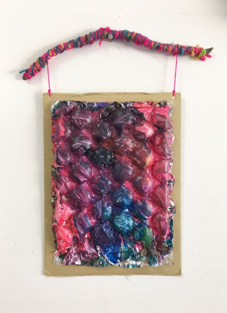 Bubble Wrap Wall Hangings My Baby Crafters Class Pinterest