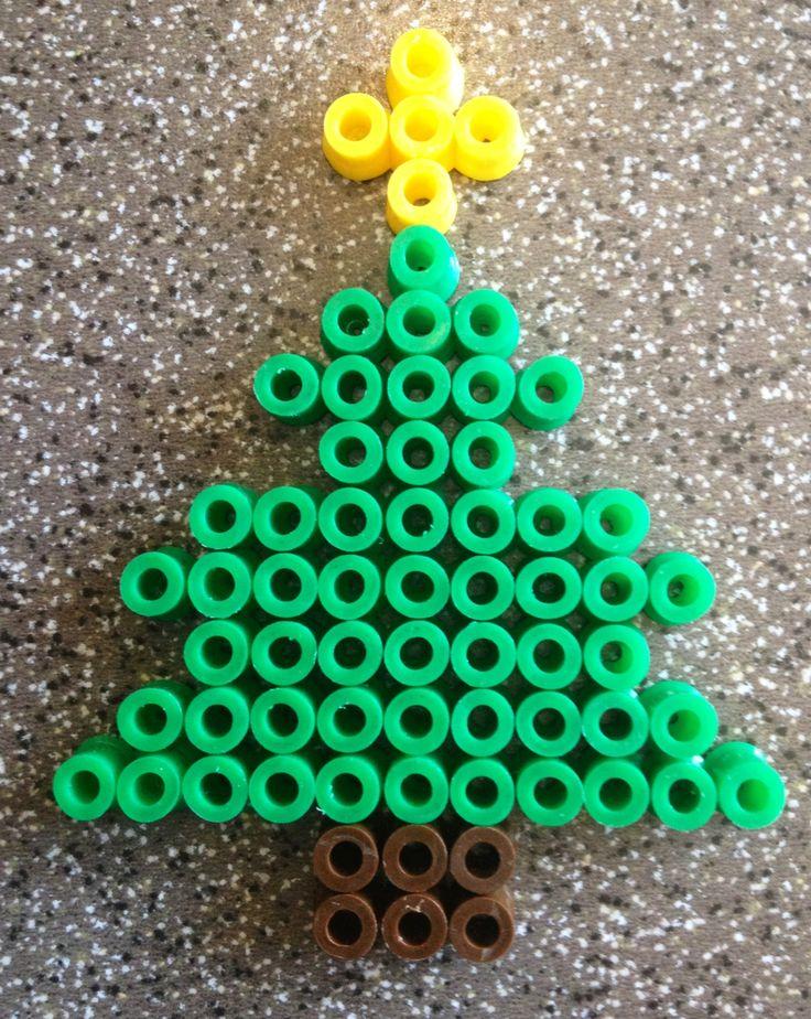Christmas tree hama perler beads By Alice - Vickan