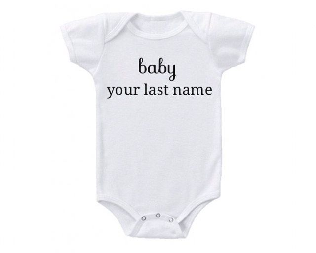 Baby [Your Last Name] by SimplyHappyBabyCo on Etsy