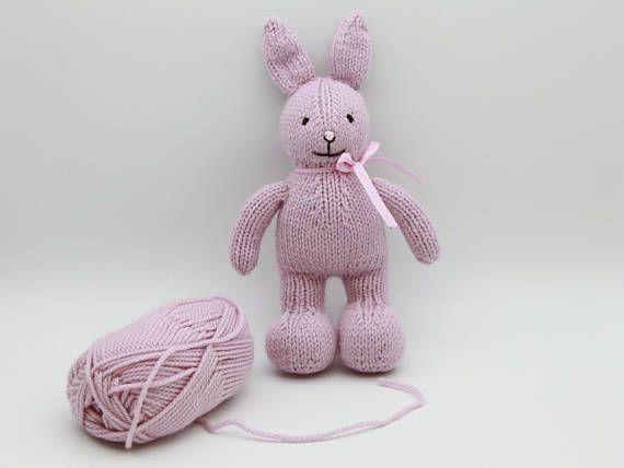 knitted bunny  stuffed toy  alpaca wool bunny  photo props