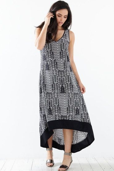 Buy Jump Brock Print Maxi Dress   Shop SAP Unresolved at the BrandStore EziBuy NZ
