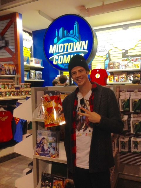 Grant Gustin, a.k.a. #TheFlash on the CW show! - Midtown Comics