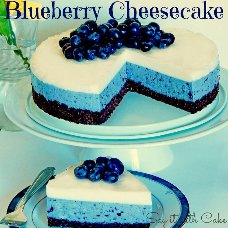 blueberry cheesecake images | White Chocolate Blueberry Cheesecake | Say it With Cake