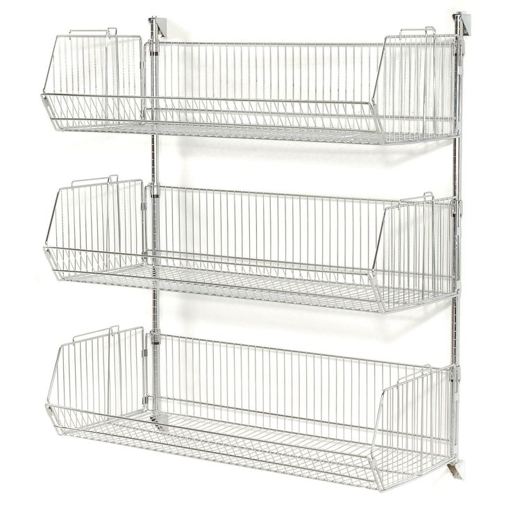 best 25 wall mounted wire baskets ideas on pinterest. Black Bedroom Furniture Sets. Home Design Ideas