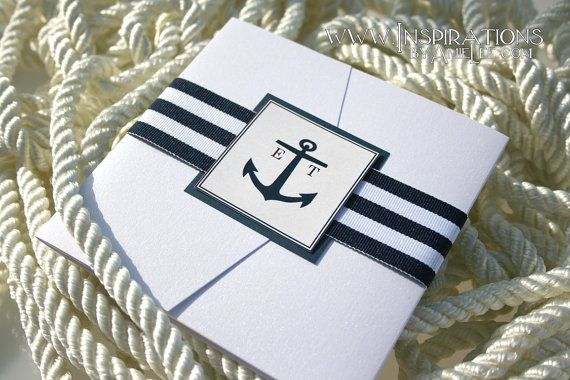 Nautical Wedding Invitation by InspirationsbyAmieLe on Etsy, $50.00
