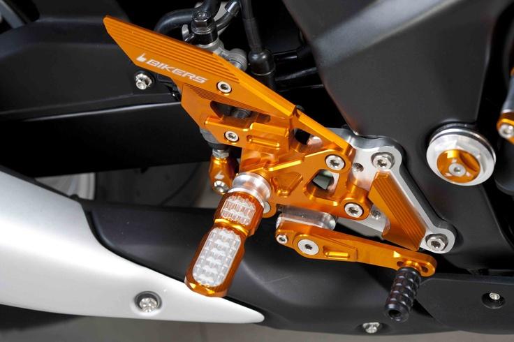 Rear sets for Honda CBR250R for 249 euro, shipping worldwide