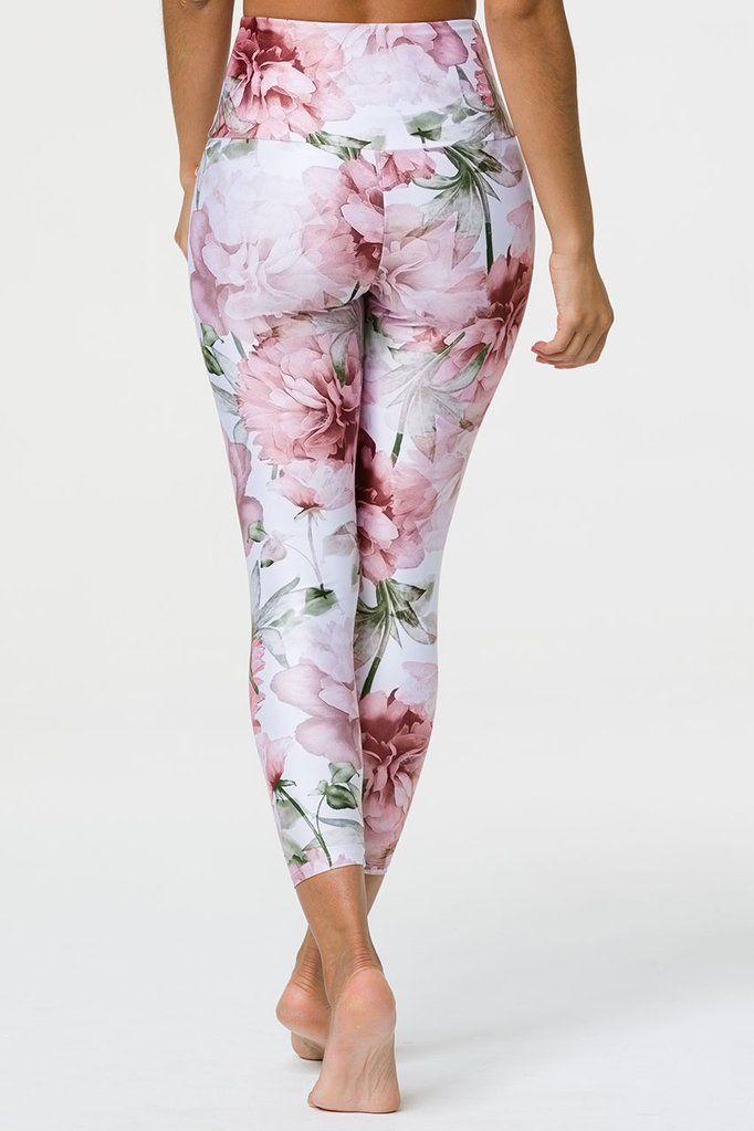 a26dd9b67ec29 High Basic Midi Legging - Summer Bloom   Exercise   Capri pants ...