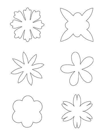 49 best Mallen voor bloemen images on Pinterest Flower template - loose leaf template