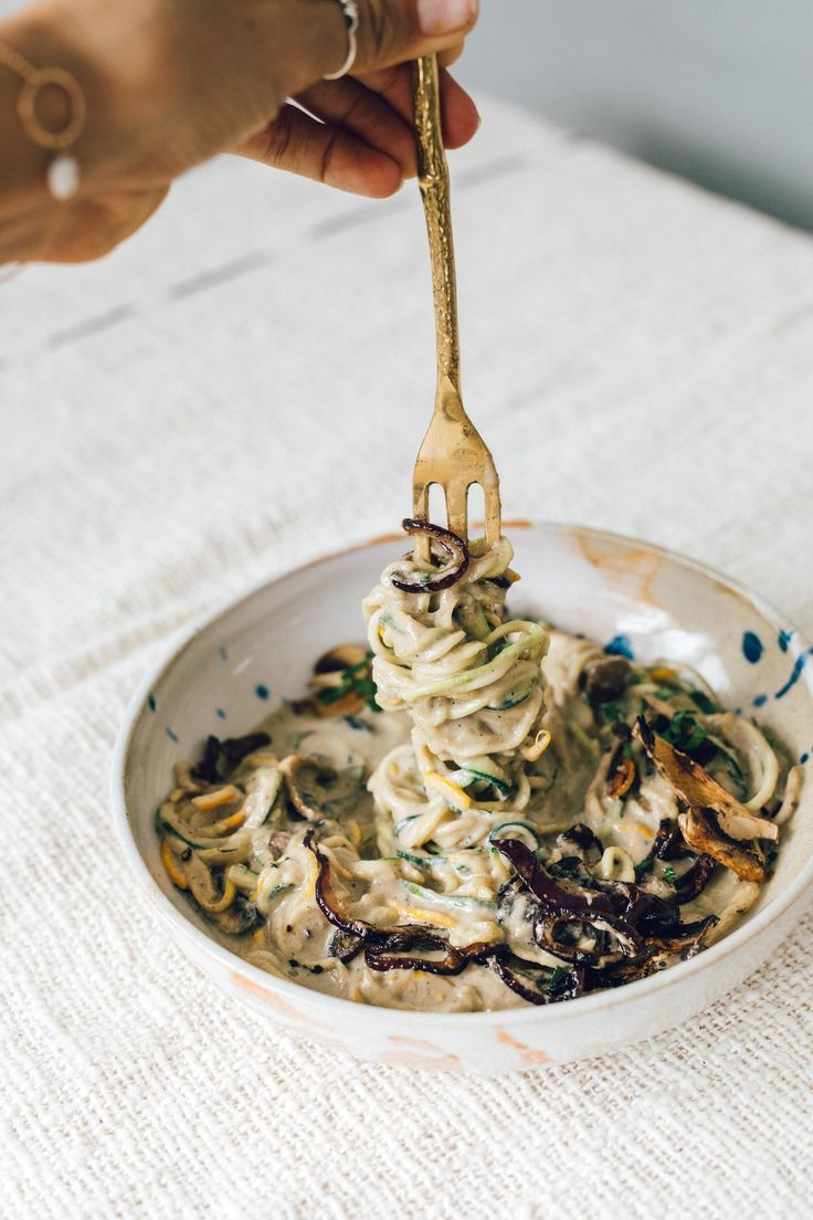 Vegan Mushroom Alfredo Pasta
