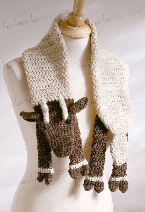 Pattern for Reindeer Scarf  DIY Fashion Tutorial  Instant Download Fashion Scarf Tutorial