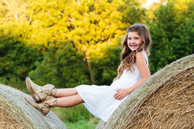 little girl pose, country girl, hay bale pose Sabrina Walsh Photography