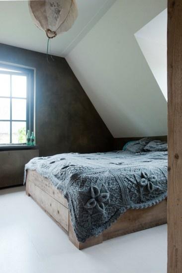 Prachtige betonlook slaapkamer! Door betonlookdesign
