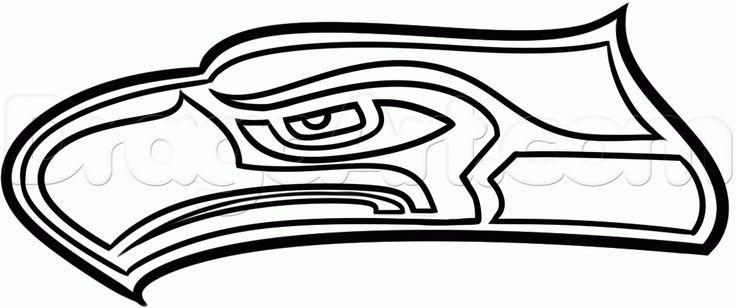 seattle seahawks logo clip art  footballhelmetdrawing