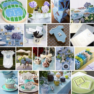 CAKE. | events + design: custom party inspiration board: a monogram inspired baby shower