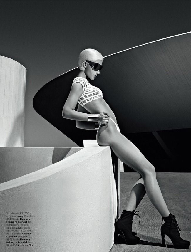 "VOGUE BRAZIL: Ana Claudia Michels in ""50 Shades of Grey"" by Photographer Zee Nunes"