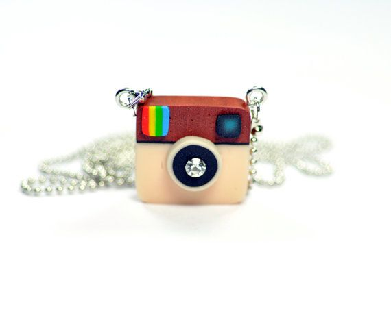 Instagram Camera miniature necklace