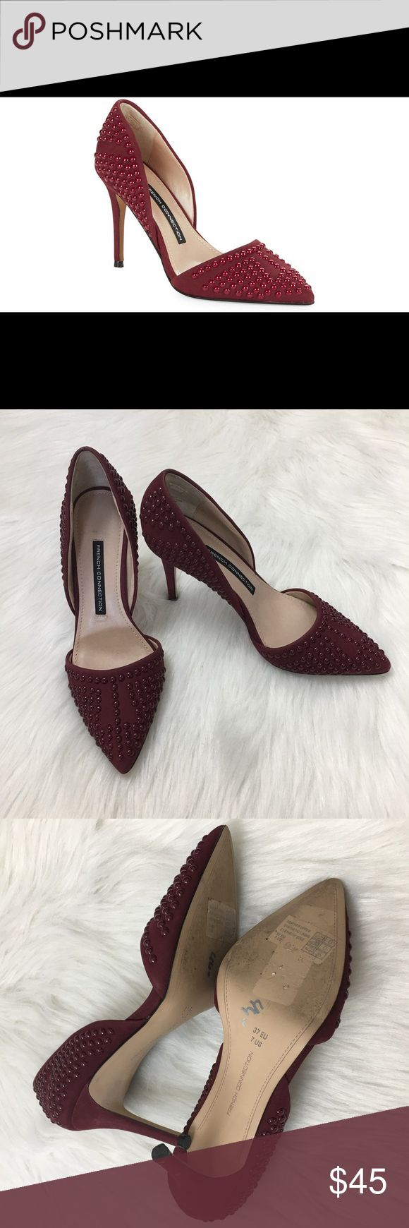 Selling this French Connection Ellis Pumps Red/Burgundy Size 7 on Poshmark! My username is: cottonswap25. #shopmycloset #poshmark #fashion #shopping #style #forsale #French Connection #Shoes