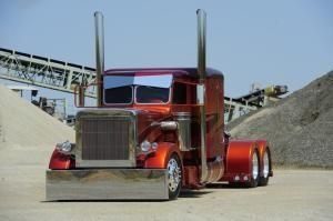 Custom Big Trucks | Custom Big Rig Truck Show 2001 Peterbilt 379 Photo 13 Performance 100 by eileen