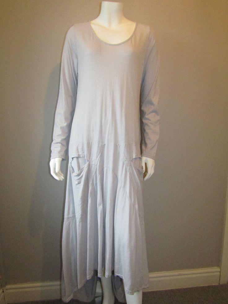 Lagenlook long dress 170 grey
