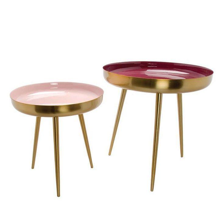 Tischgruppe Nesting Tables Frame 2er-Set Ginger von Au Maison, 380,00