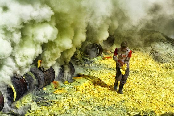 A Dangerous job, Kawah Ijen , Java:
