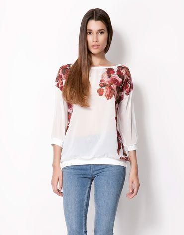 Sweter w kwiaty Bershka - 69,90 PLN