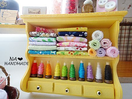 miniature--my sewing room - TOYS, DOLLS AND PLAYTHINGS