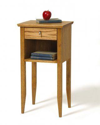EKLIDEN Sängbord med låda oljad ek