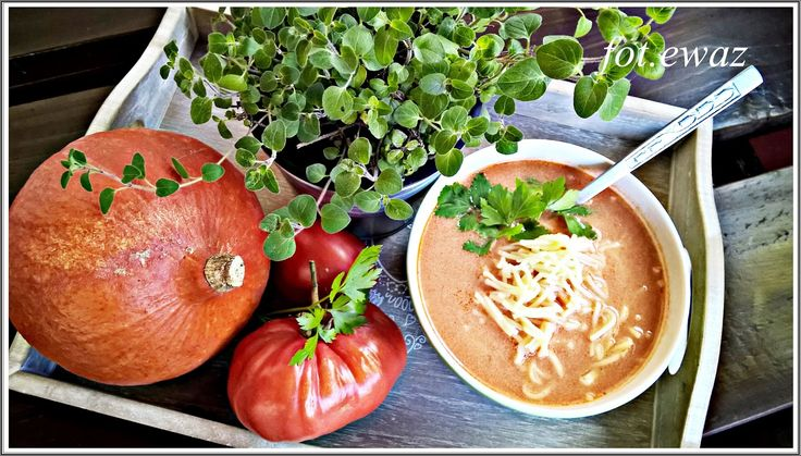 Czy Wasze dzieci lubią dynię ?   Mój młodszy syn nie i dziś postanowiłam przemycić ją w zupie pomidorowej.   Pomidorową lubi więc mam nadz...