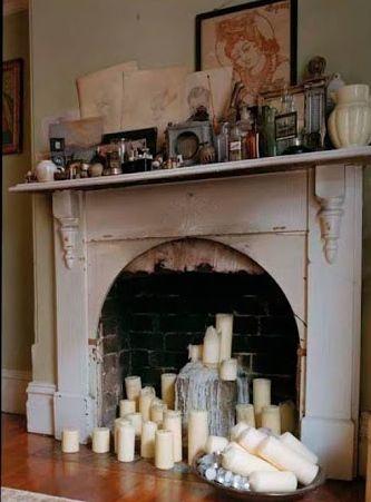 Candles In Fireplace Ideas 111 best haarden en schouwen images on pinterest   fireplace