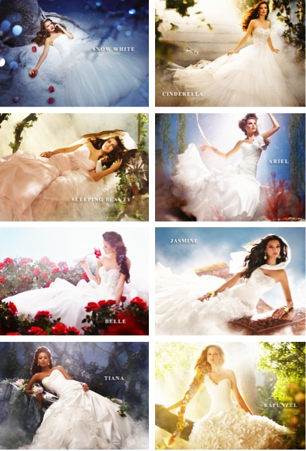 Modern Disney princesses wedding gowns.....not my style (plus I already have my dress picked out), but still beautiful gowns!!