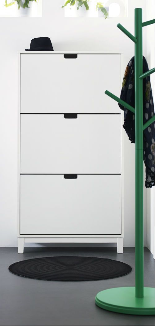 st ll shoe cabinet with 3 compartments white entry ways cabinets and entryway. Black Bedroom Furniture Sets. Home Design Ideas