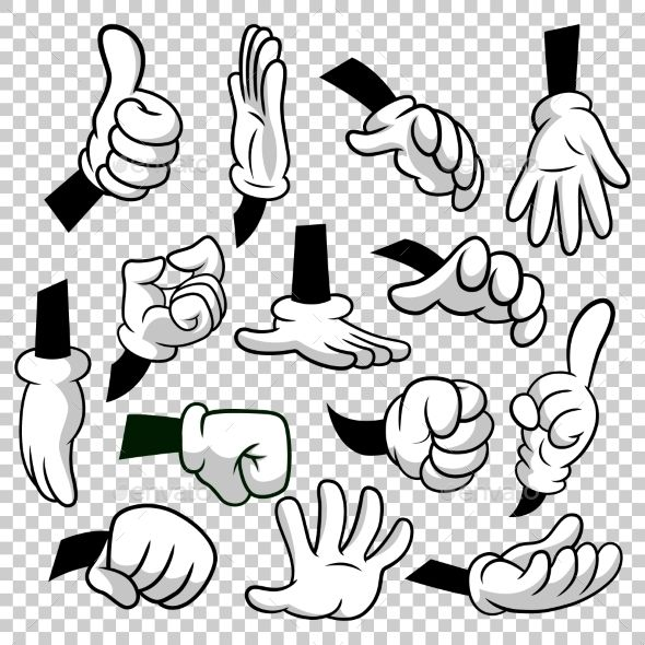 Cartoon Hands with Gloves #Icon Set Isolated - #People #Characters Download here: https://graphicriver.net/item/cartoon-hands-with-gloves-icon-set-isolated/20185082?ref=alena994