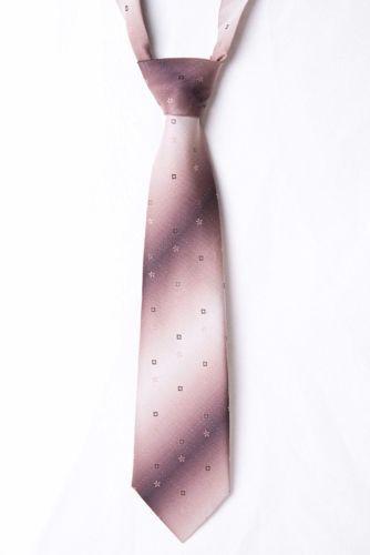 Vintage-High-Grade-Brown-Geometric-Floral-Mens-Tie-Made-in-UK