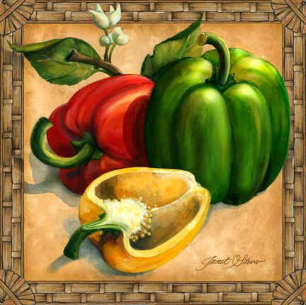 """""""Bell Peppers"""" by Janet Stever"""