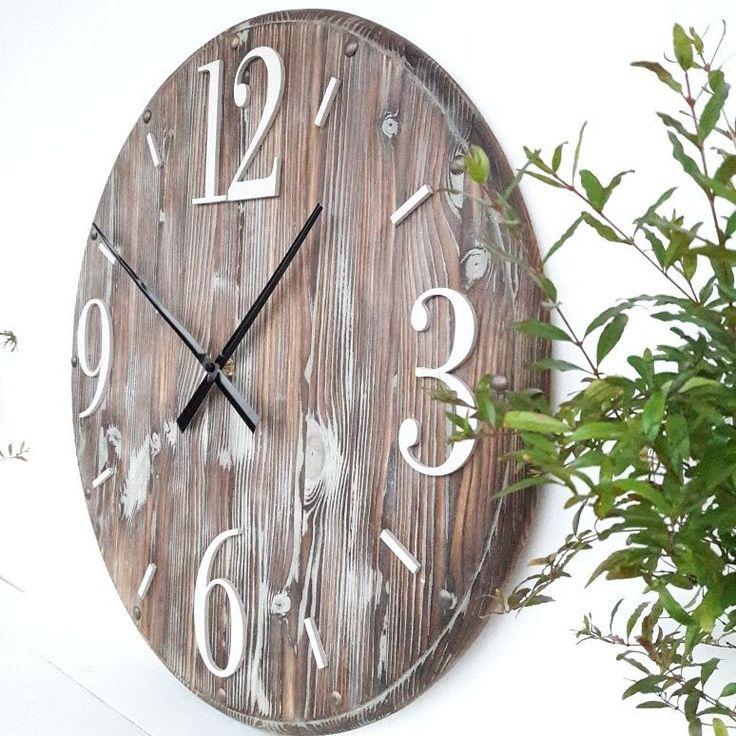 rustic wall clock 20 inch handmade worlwide shipping