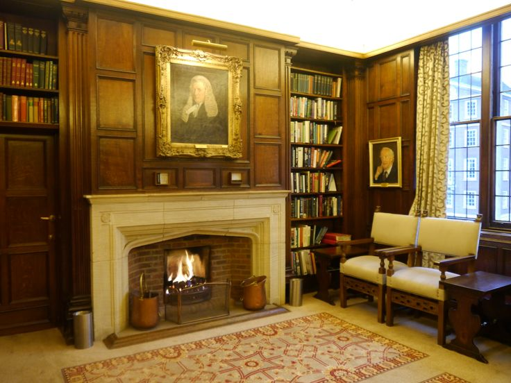 Wedding drinks reception room with a real roaring fire