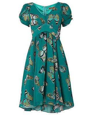 Jolie Moi 1940s-inspired pattern printed tea dress at House of Fraser