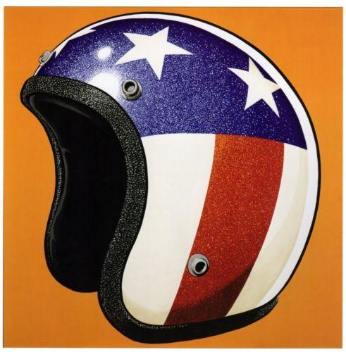 Easy Rider American Flag Motorcycle Helmet Poster