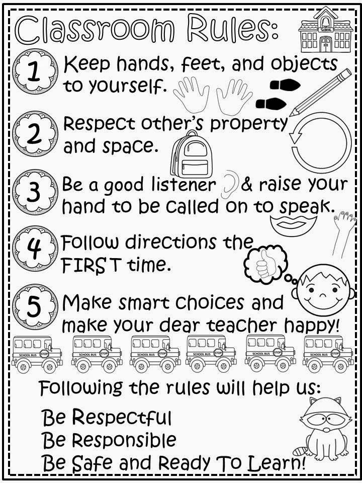 Free Classroom Rules with Raccoon Mascot. Enjoy! Regina Davis aka Queen Chaos at Fairy Tales And Fiction By 2.