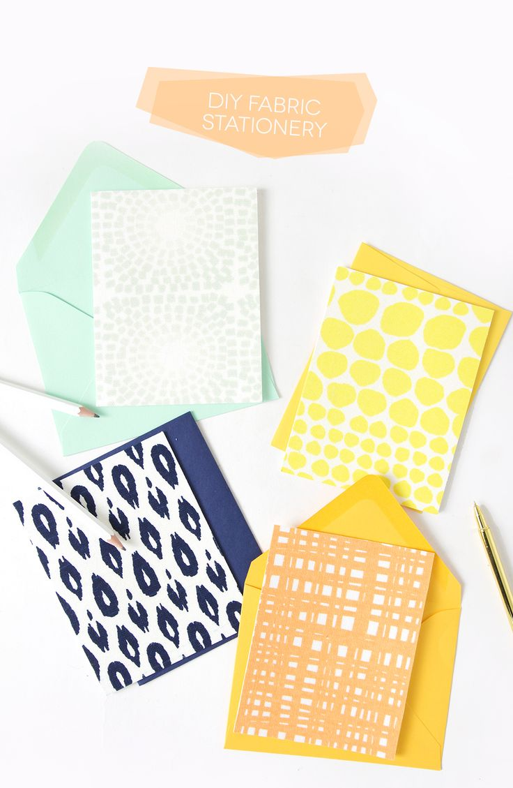 DIY Fabric Stationery Cards