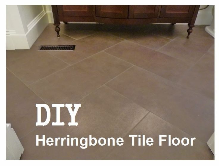 GREAT How To Install A Herringbone Tile Floor (TILES MADE OUT OF CONCRETE)