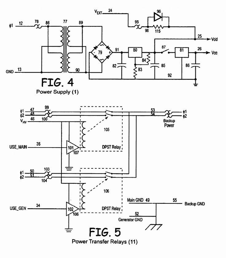 Wiring Diagram For Generator Transfer Switch  Diagram