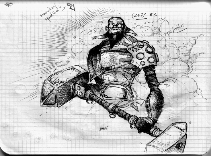 Codehunters / sketch by Ben Hibon  © Stateless Productions Ltd.
