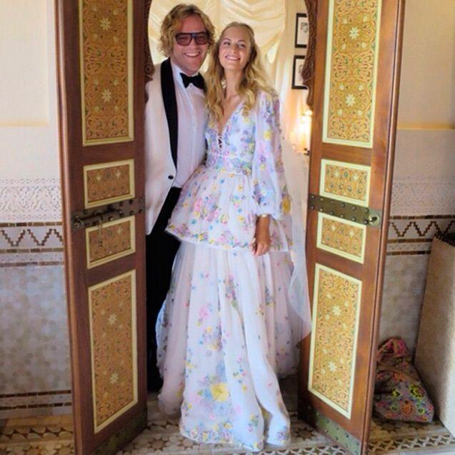 Poppy Delevingne 2nd. Wedding Boho Marrakesh Wearing Pucci
