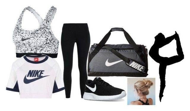 """""""Nike Dance outfit"""" by kmangelgucci3 ❤ liked on Polyvore featuring NIKE"""