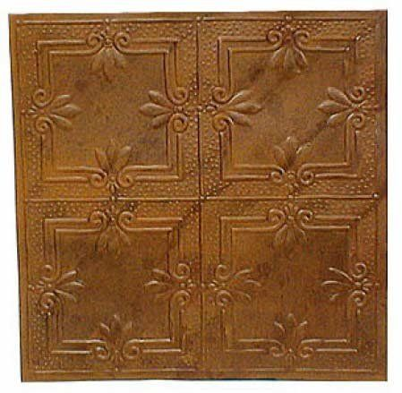 "Package of 6 - 12"" X 12"" Vintage Look Reproduction Rusty Metal Embossed Tin Ceiling Tiles by Factory Direct Craft, http://www.amazon.com/dp/B003TP77MW/ref=cm_sw_r_pi_dp_3lSarb0DS6N7G"