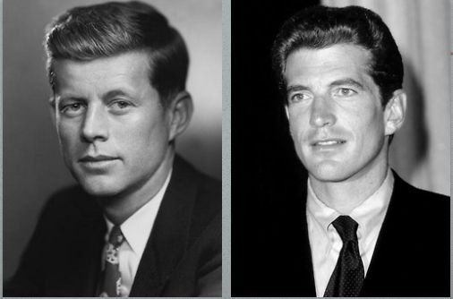 Father and son: John F. Kennedy and John F. Kennedy Jr.                                   WOW!