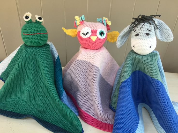100% COTTON  lovey security blanket friends.these can also be ordered personalized